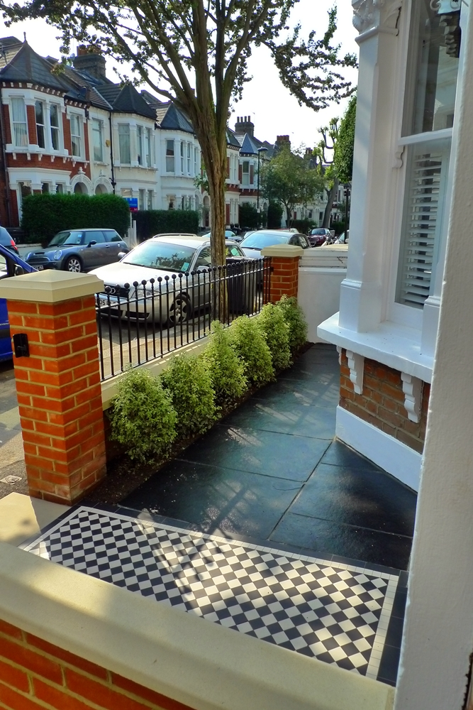 Victorian mosaic tile path london london garden design - Garden design terraced house ...