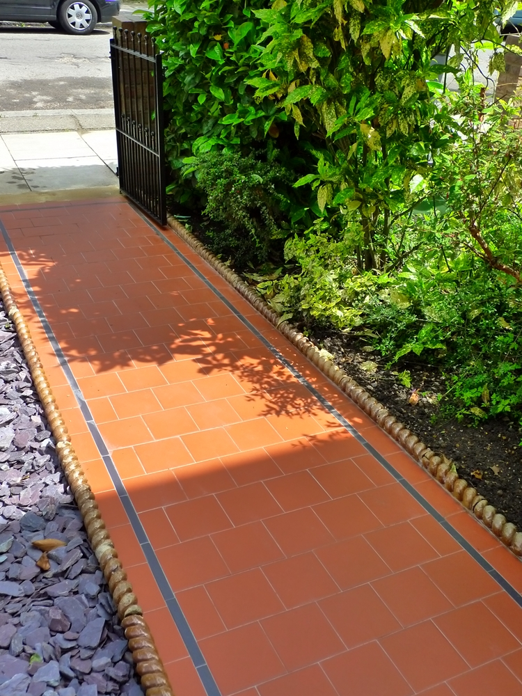 Quarry Tile Front Path London Garden Design