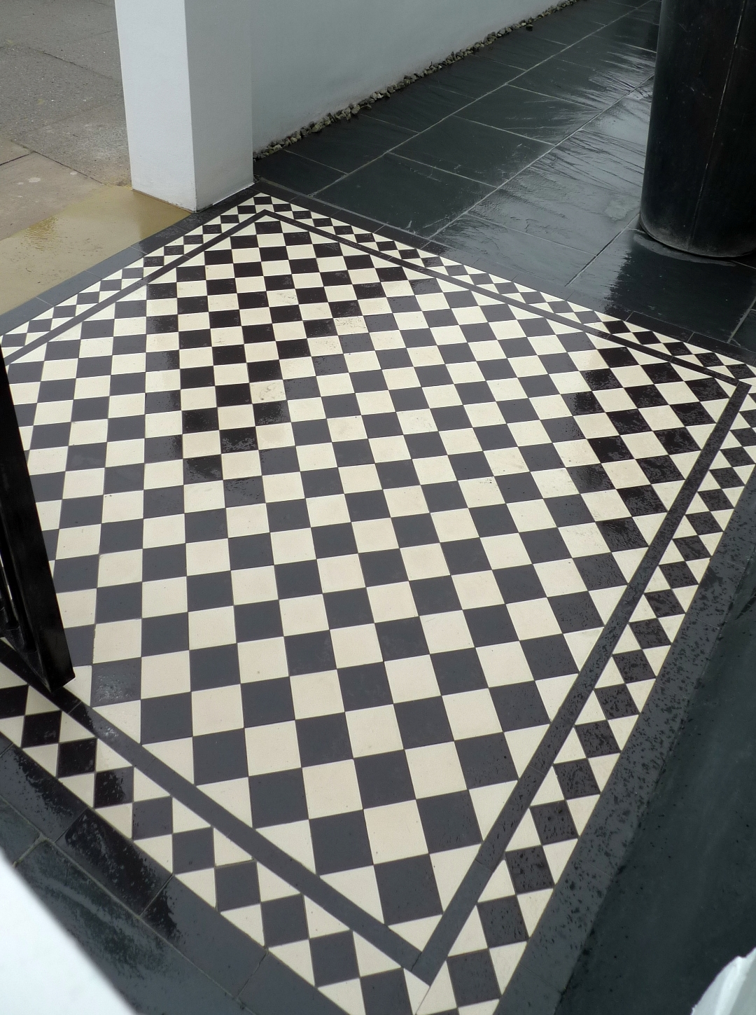 Black And White Victorian Mosaic Tile Path London Garden