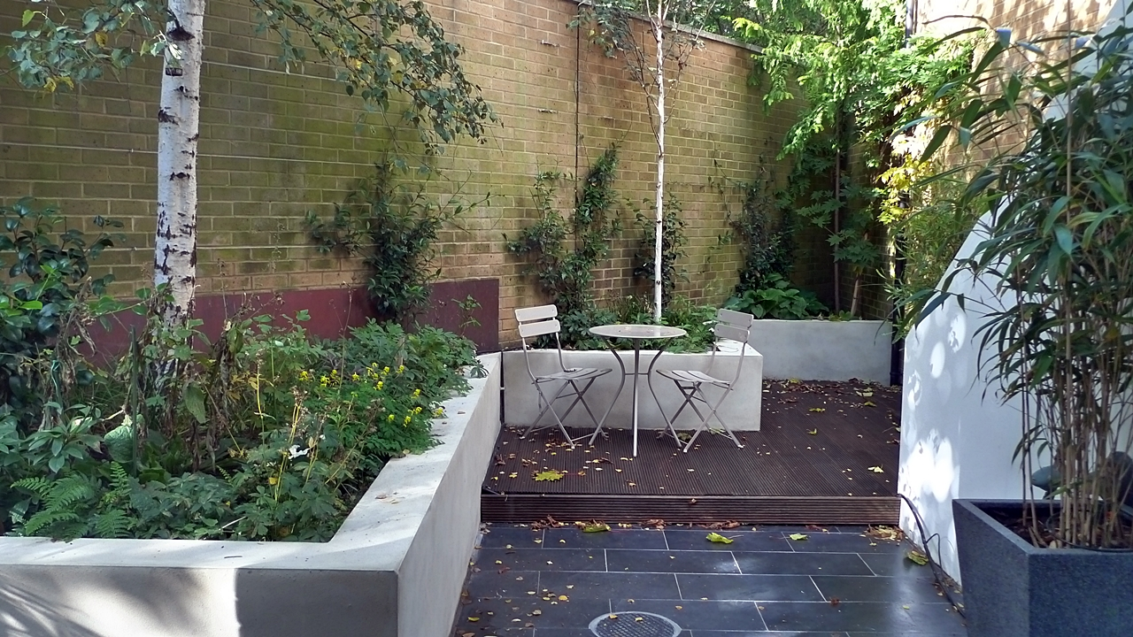 Classic modern small garden design london london garden for Modern garden