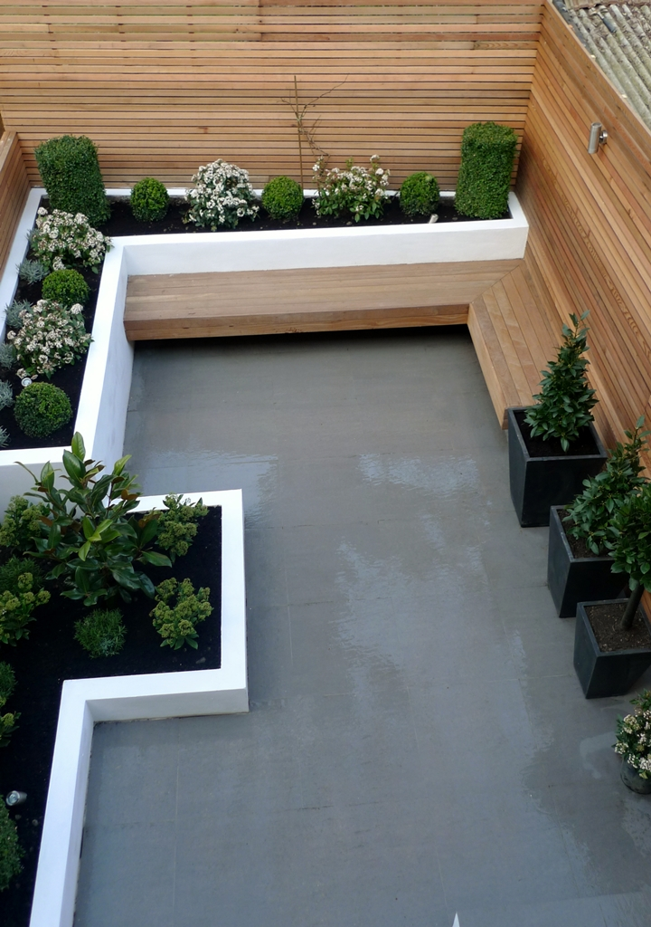 1000 imagens sobre get your green on no pinterest for Modern back garden designs
