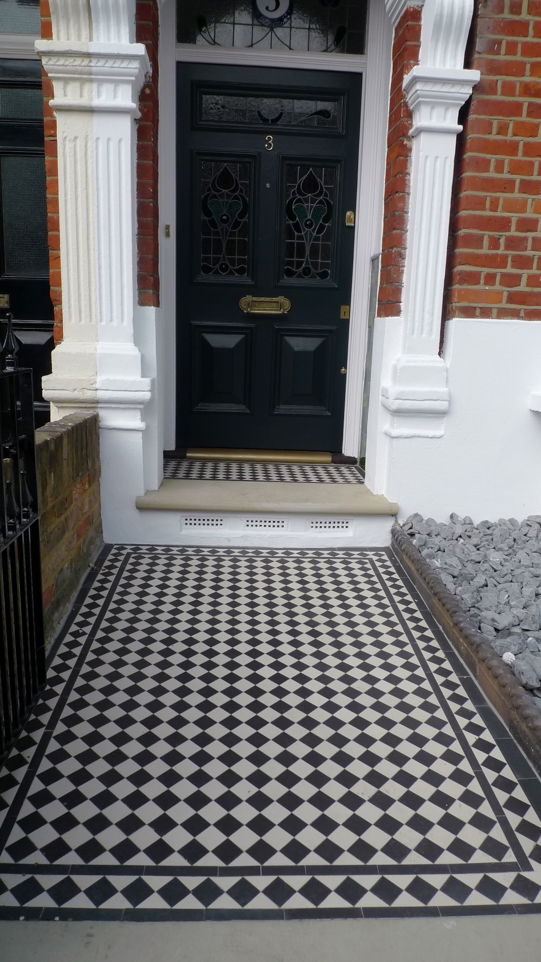 how to clean victorian path tiles