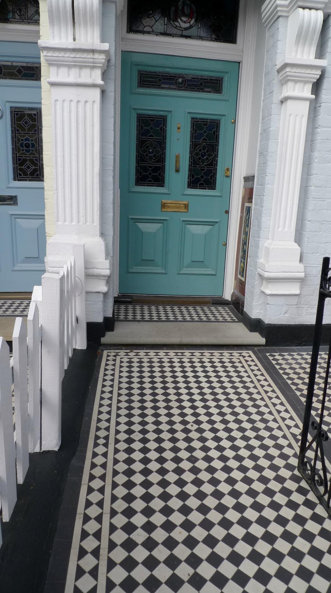 Black And White Victorian Mosaic Tile Path London London