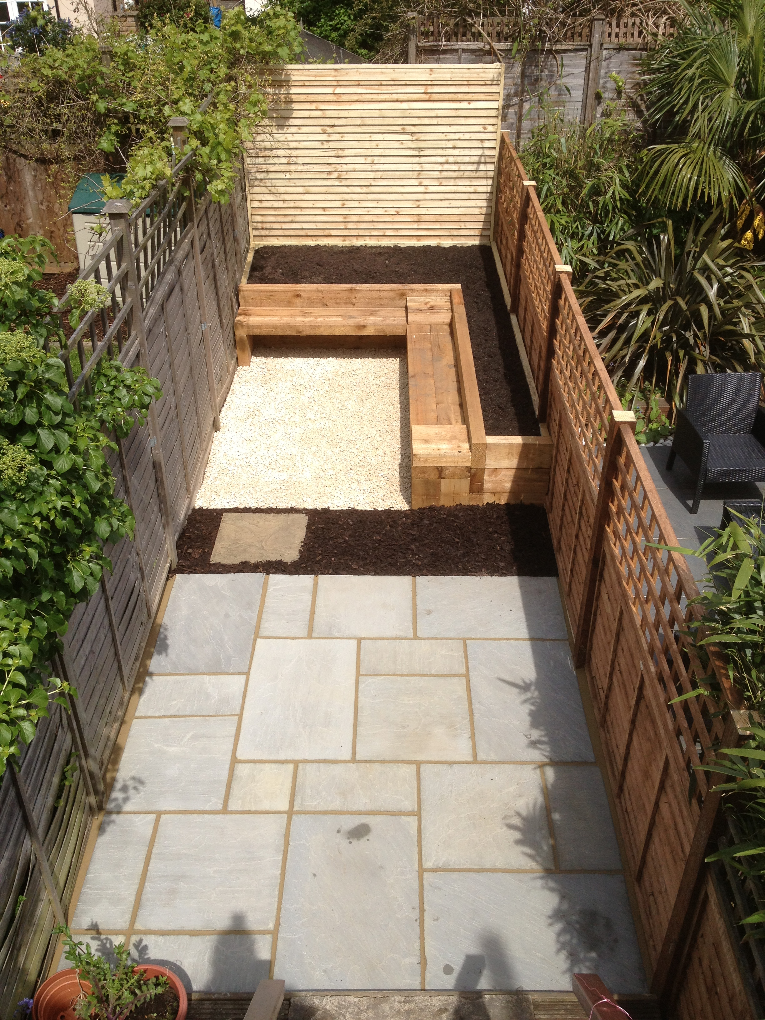 garden design using railway sleepers interior design