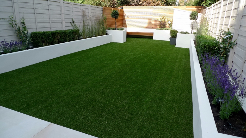 easy grass fake artificial grass clapham london fence raised beds privacy trellis