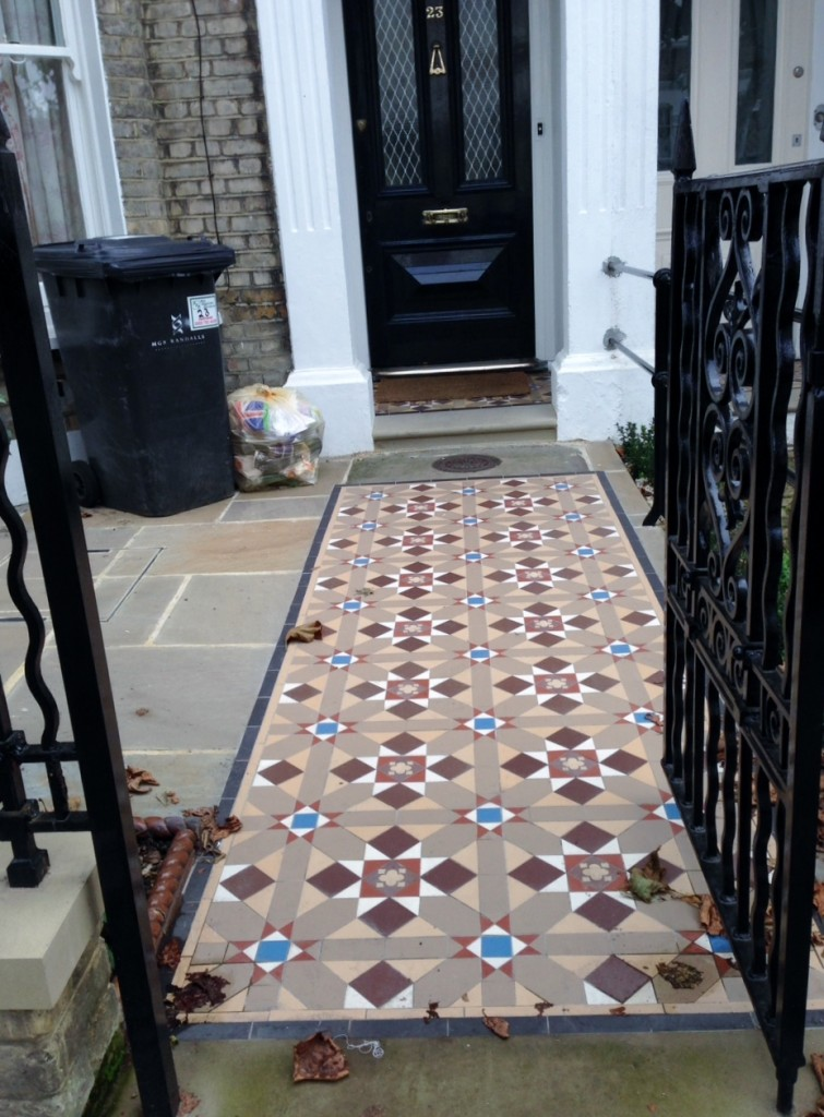 edwardian and victorian mosaic tile path