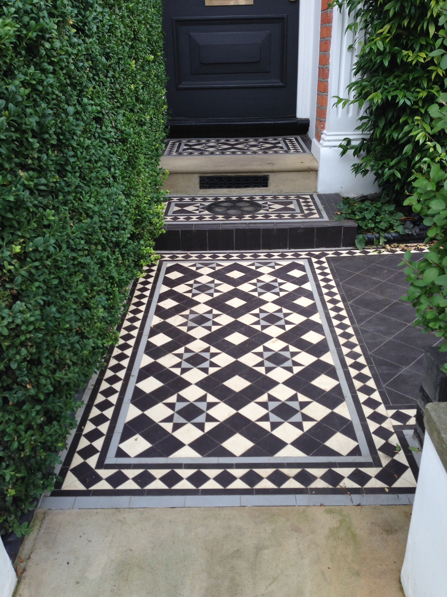 Victorian and Edwardian Mosaic Tile Path London