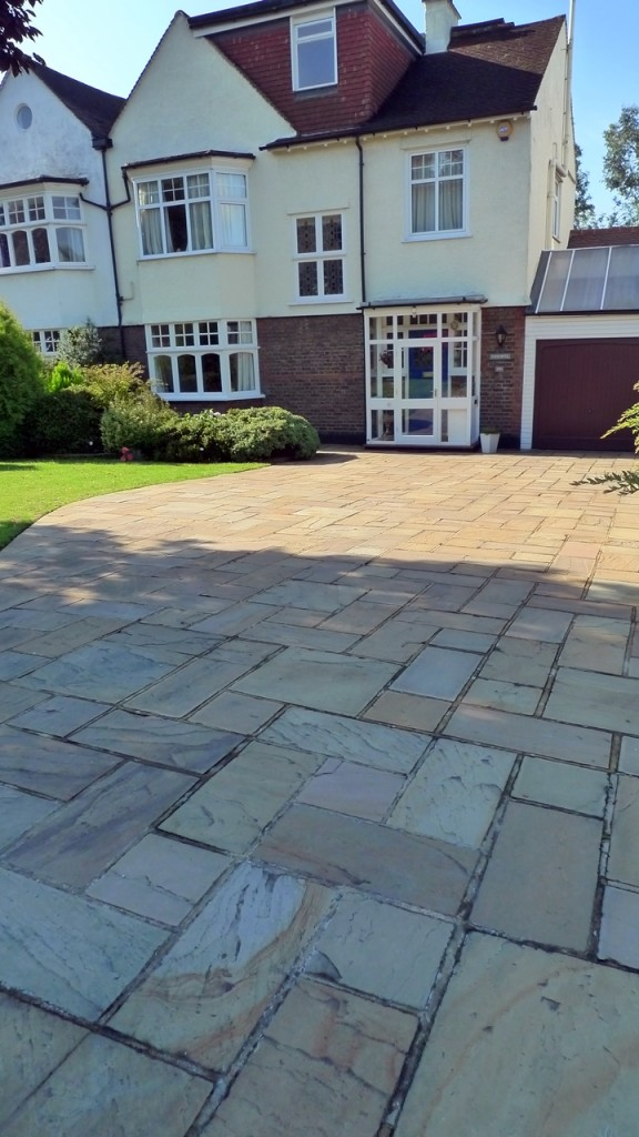 sandstone paving driveway london
