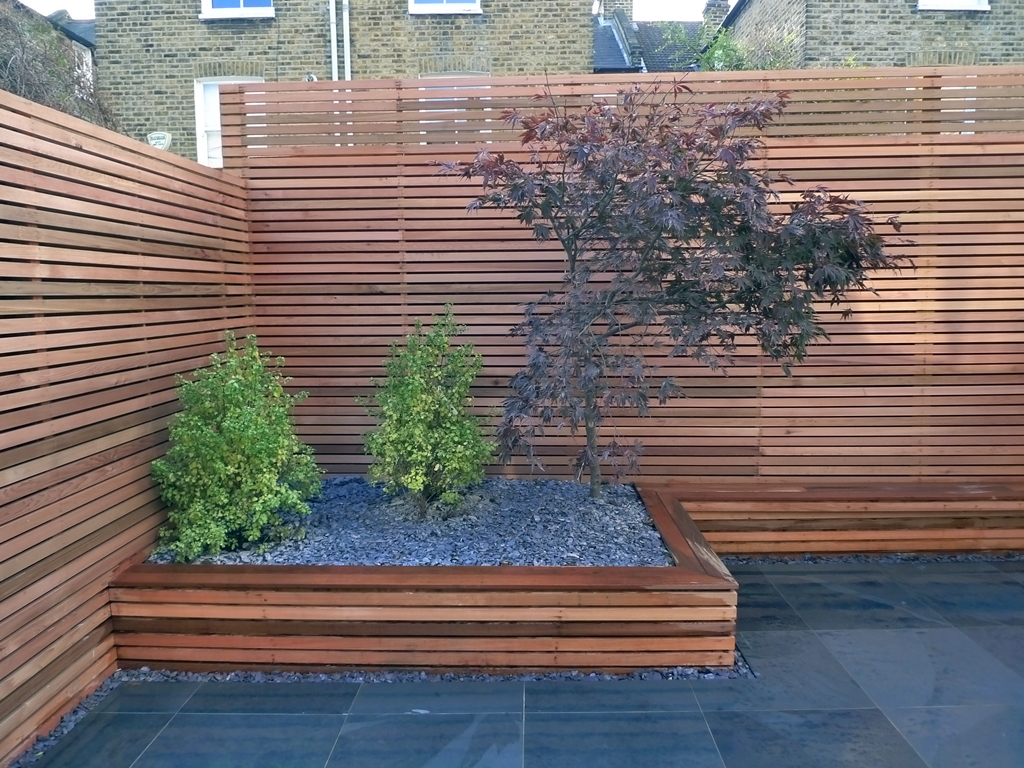 trellis hardwood sreen fence clapham London