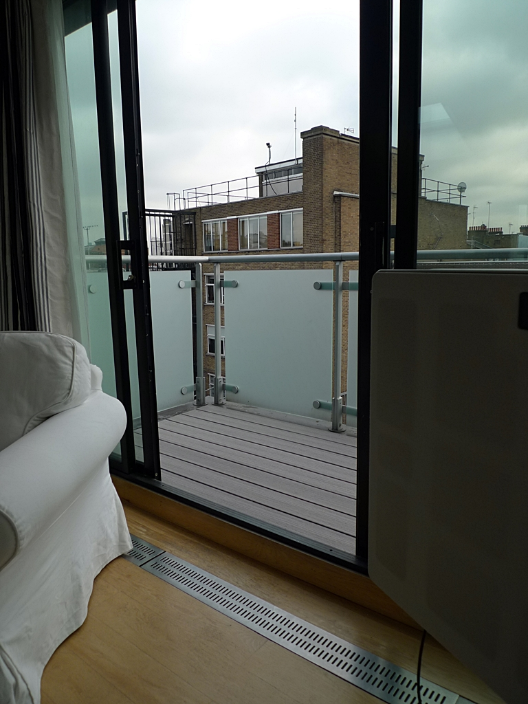 composite deck installation balcony london decking in grey