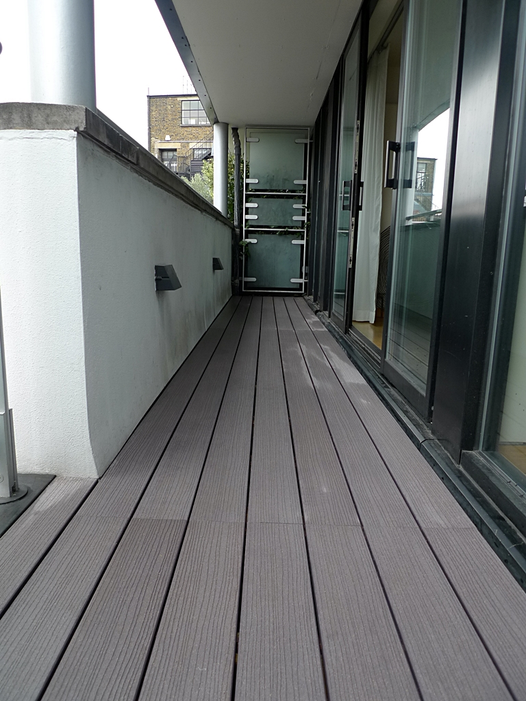 grey composite decking roof