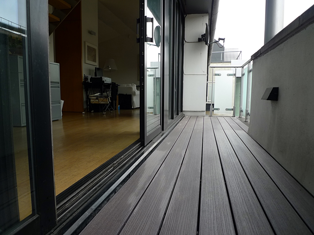 grey composite decking west end balcony london