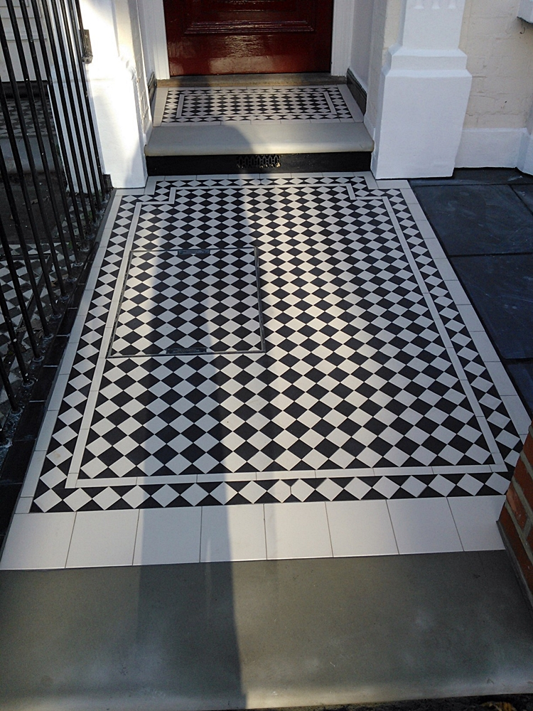 victorian mosaic tile path central london