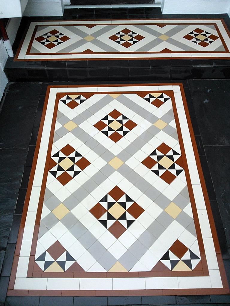 victorian mosaic tile path east london porch and main path
