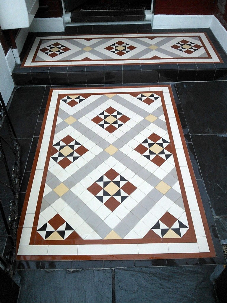 victorian mosaic tile path willesden pattern