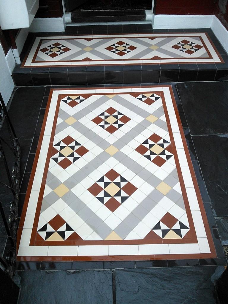 victorian mosaic tile path willesden pattern