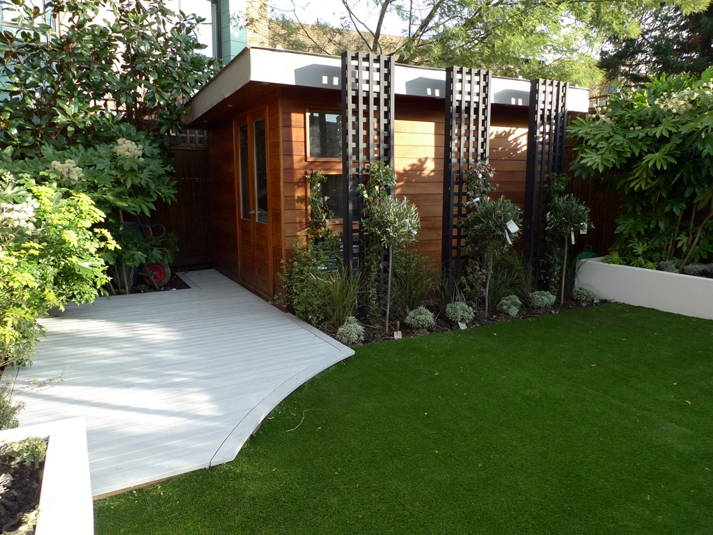 Modern low maintenance minimalist garden design idea for Amenagement jardin moderne
