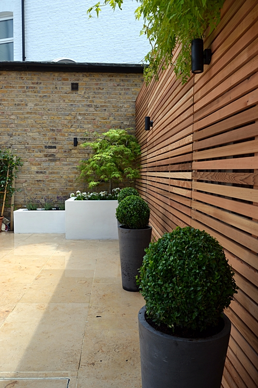 cedar trellis privacy screen fence london