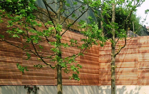 hardwood privacy screen fence trellis london