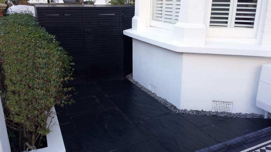 slate paving front garden london
