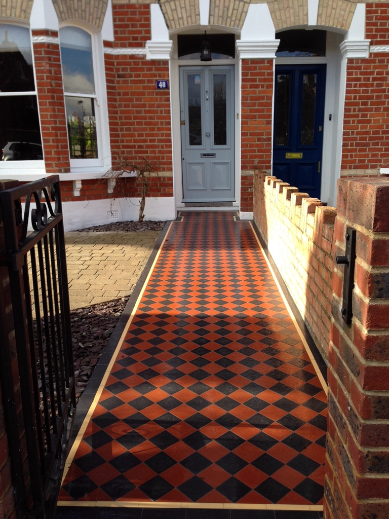 victorian mosaic tile path dulwich london