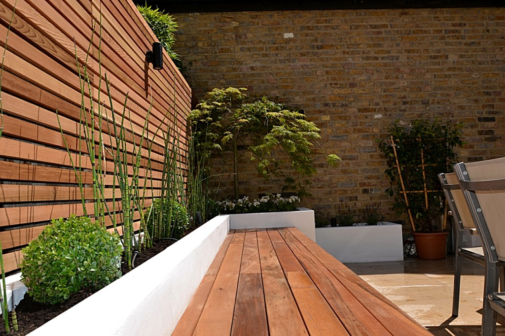 garden hardwood privacy screen slatted hardwood cedar trellis london