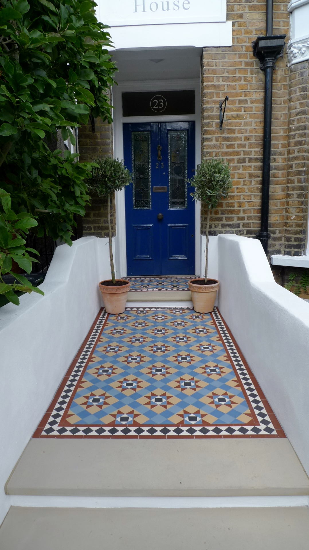 Victorian Multi Coloured Mosaic Garden Tile Path In Greenwich London London Garden Design