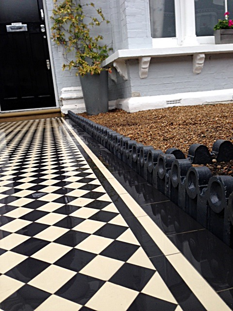 victorian path edge tile in grey charcoal black colour for victorian mosaic tile [ath balham london
