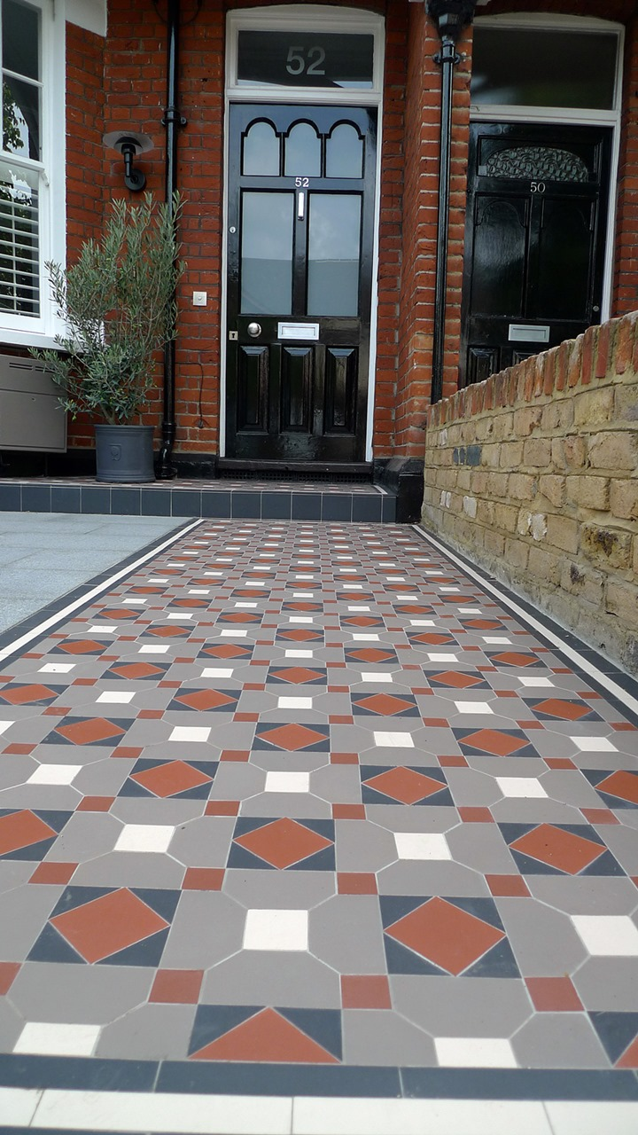 Victorian Mosaic Tile Path Granite Paving York Stone