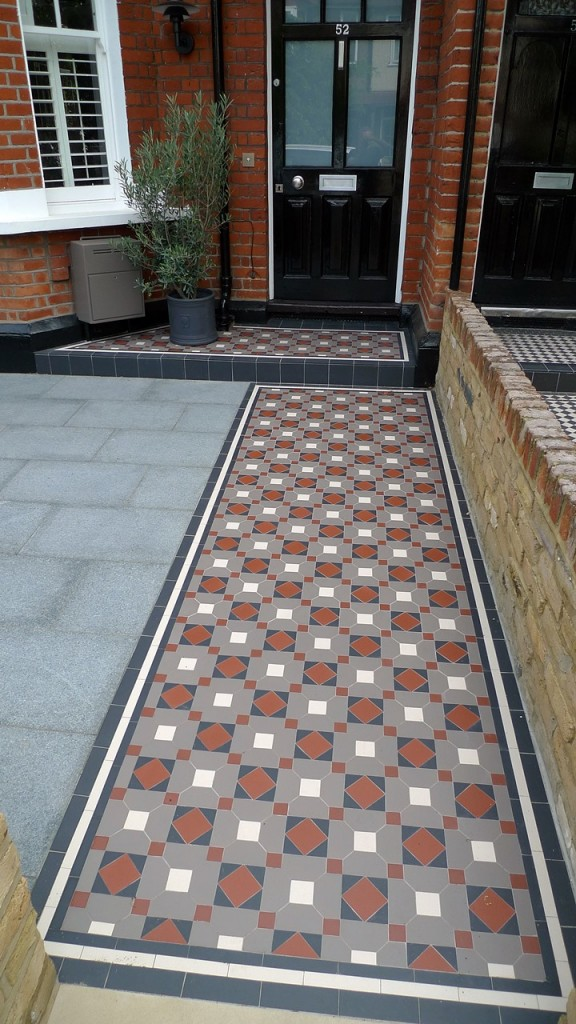 victorian mosaic tile garden path london