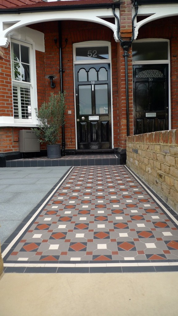 victorian mosaic tile path and porch wimbledon