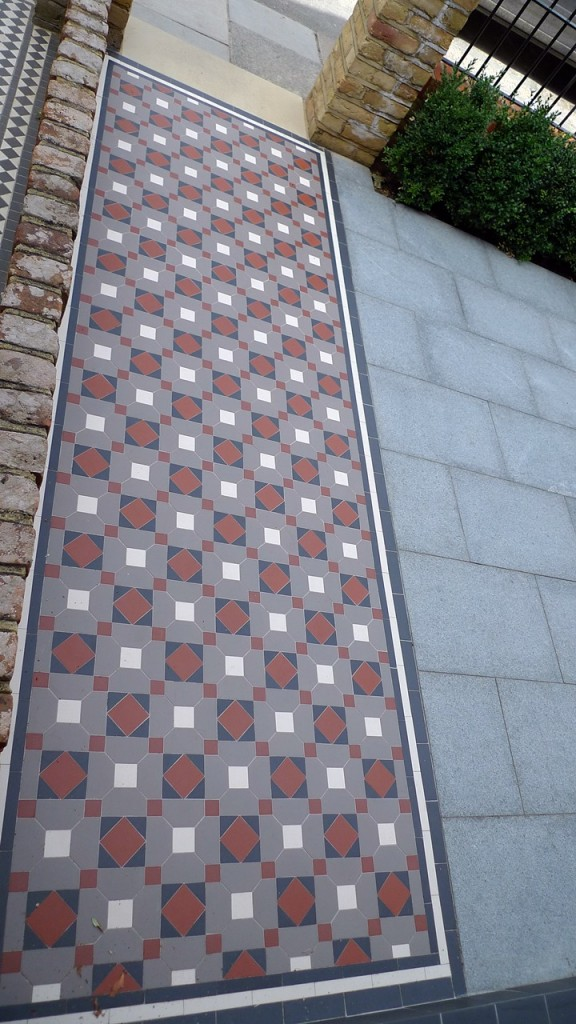 victorian mosaic tile path balham london
