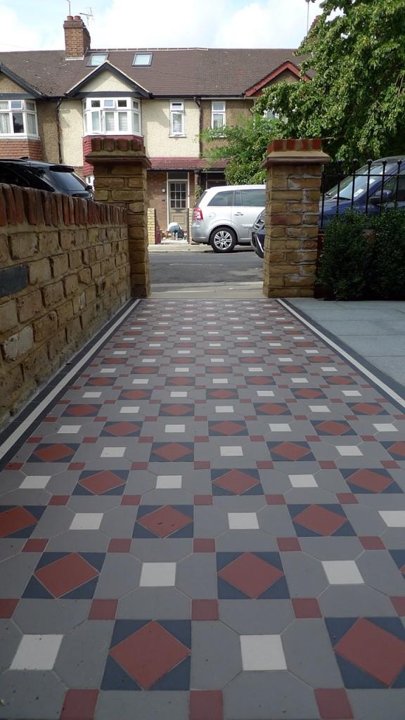 victorian mosaic tile path london