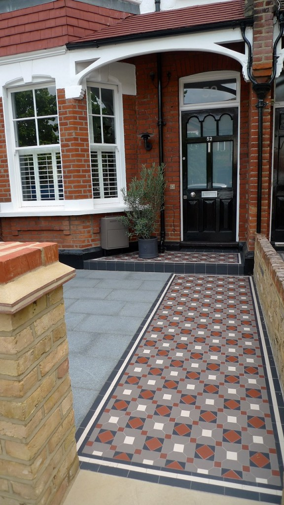 victorian mosaic tile path wimbledon london