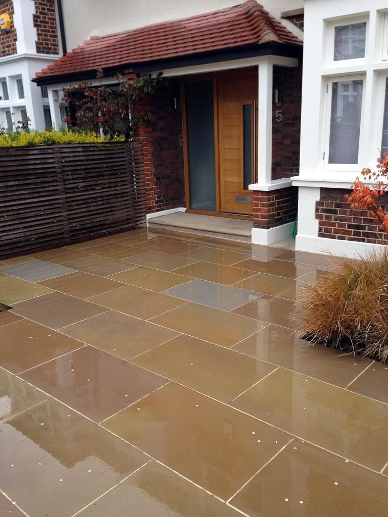 front garden driveway balham clapham london sawn sandstone paving (1)