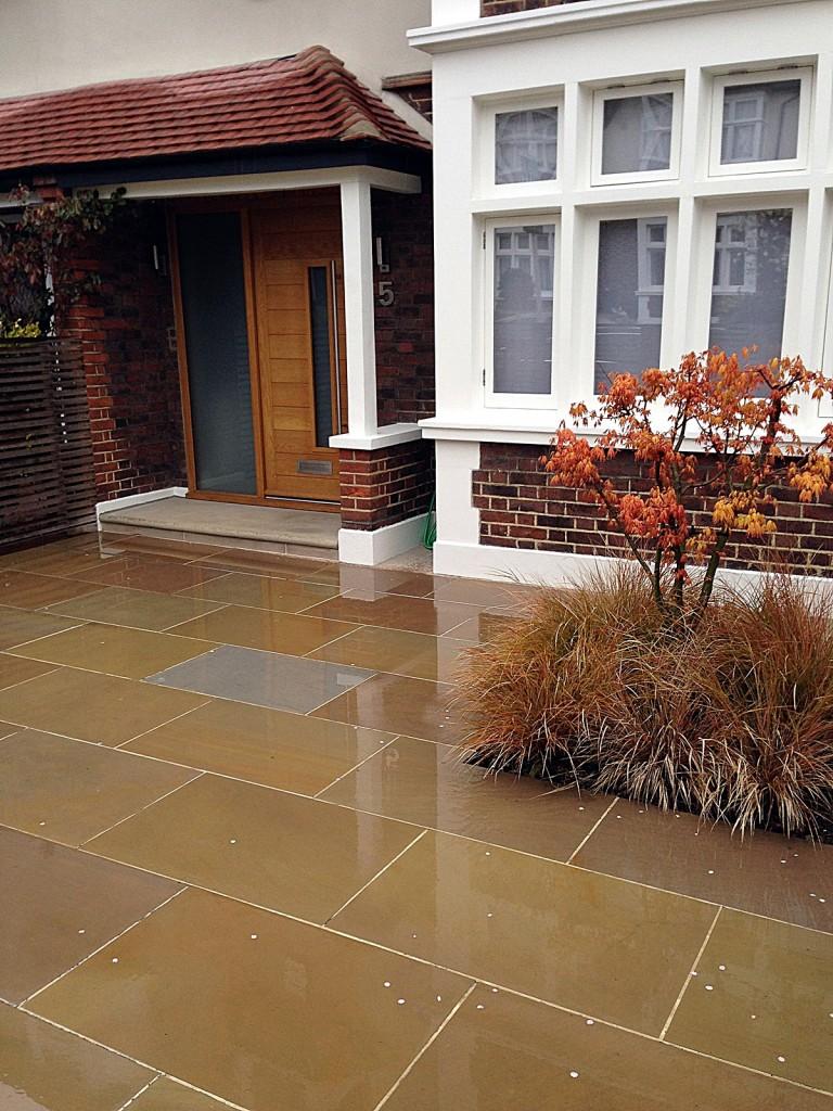 front garden driveway balham clapham london sawn sandstone paving (2)