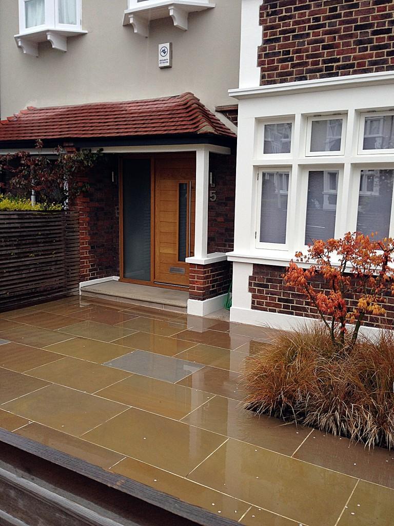 front garden driveway balham clapham london sawn sandstone paving (3)