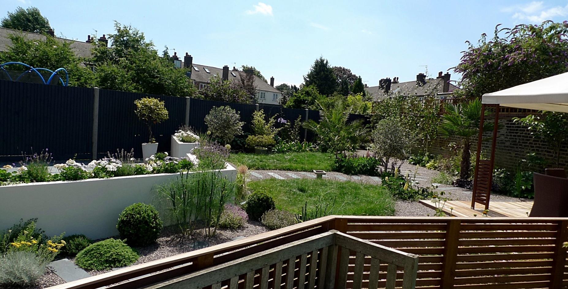 Large Modern Garden Design Earlsfield South West London