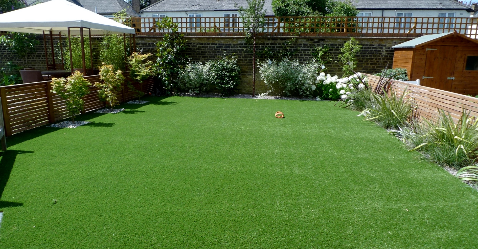 Large modern garden design Earlsfield South West London ...