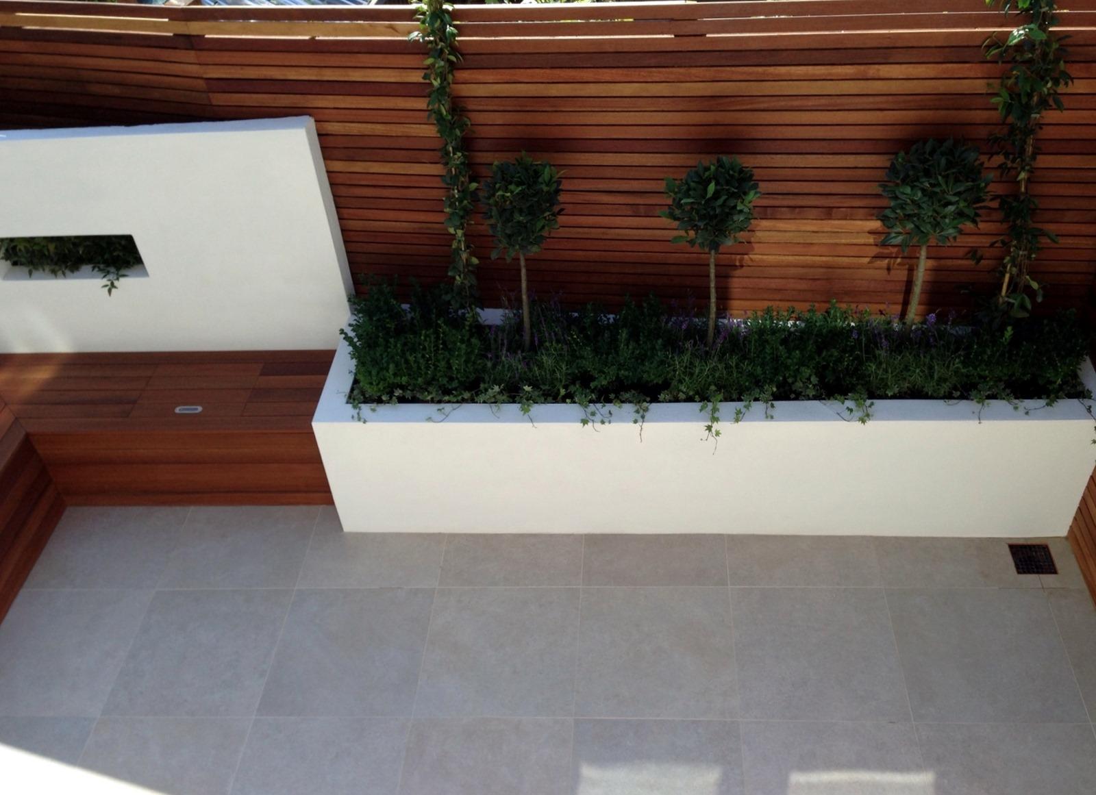 Small Garden Design London Clapham Balham Ideas Low Maintenance Grey Tiles London Garden Design