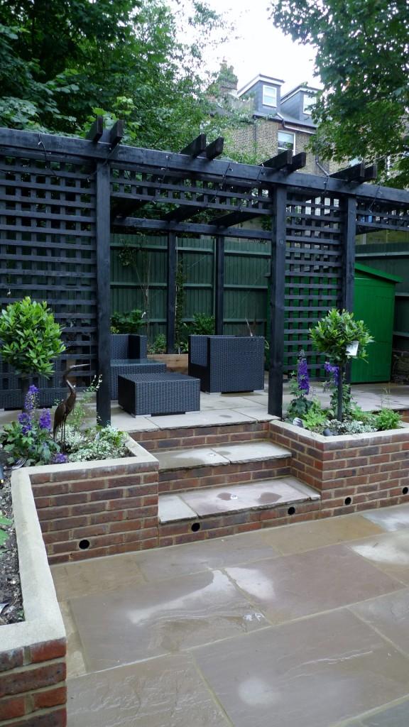 garden walls pergola paving steps planting design designer streatham dulwich clapham london (10)