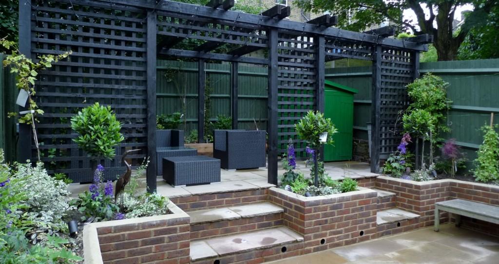 garden walls pergola paving steps planting design designer streatham dulwich clapham london (11)