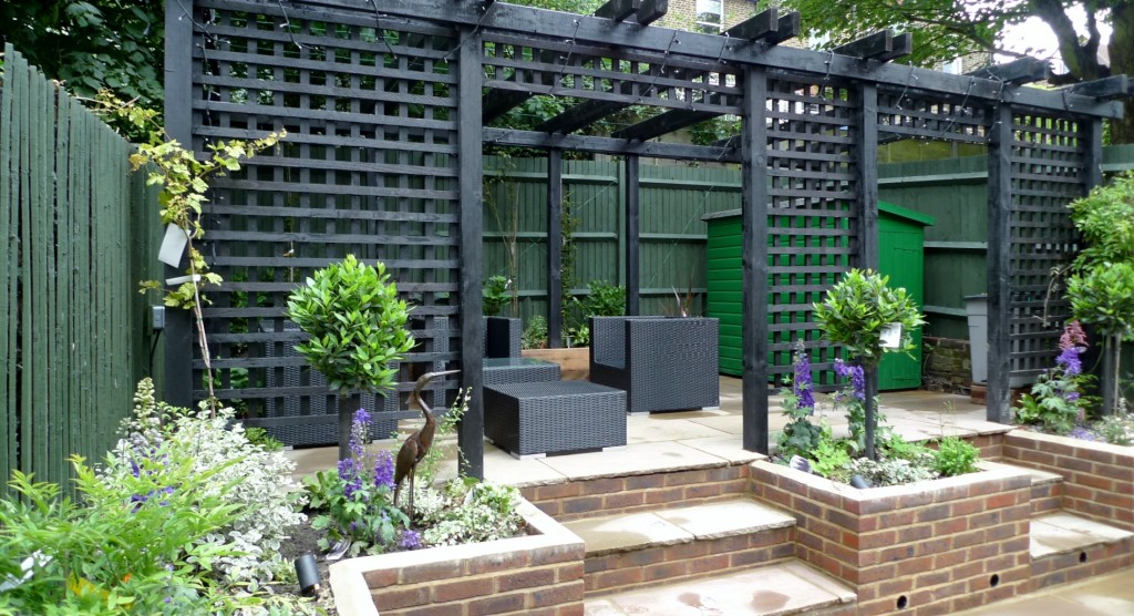 garden walls pergola paving steps planting design designer streatham dulwich clapham london (18)