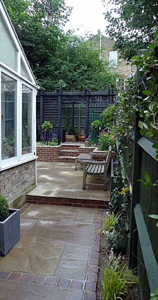 garden walls pergola paving steps planting design designer streatham dulwich clapham london (2)