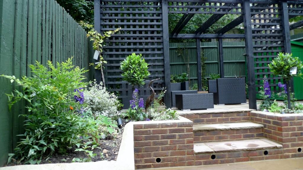 garden walls pergola paving steps planting design designer streatham dulwich clapham london (23)