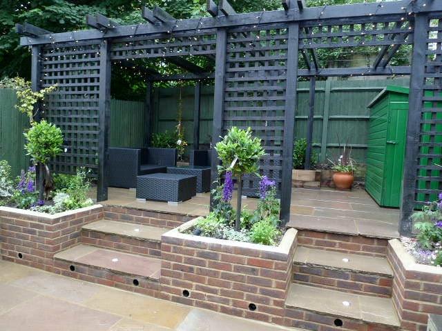 garden walls pergola paving steps planting design designer streatham dulwich clapham london (25)