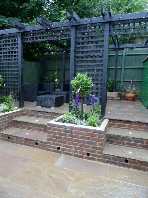 garden walls pergola paving steps planting design designer streatham dulwich clapham london (26)