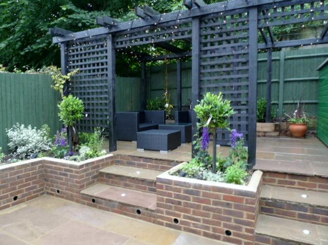 garden walls pergola paving steps planting design designer streatham dulwich clapham london (27)