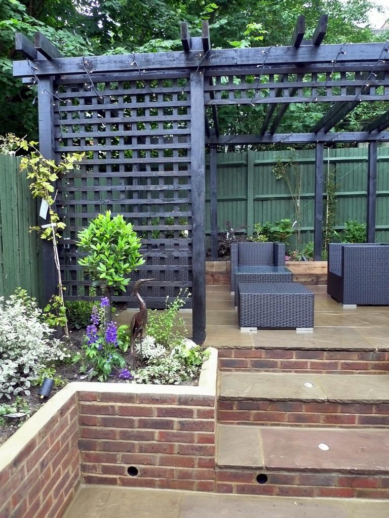 garden walls pergola paving steps planting design designer streatham dulwich clapham london (28)