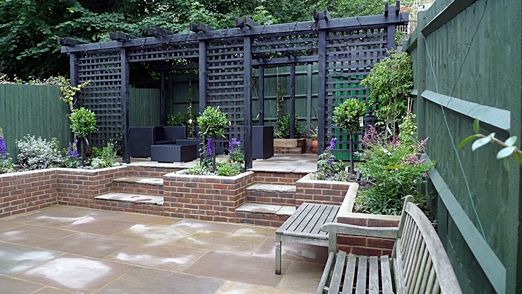 garden walls pergola paving steps planting design designer streatham dulwich clapham london (32)